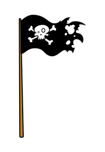 Pirate Flag - Vector Cartoon Illustration