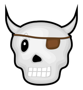 Pirate Halloween Skull