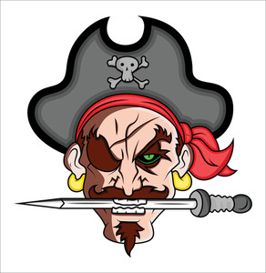 Pirate Mascot Vector Illustration