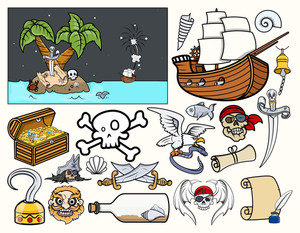 Pirate Story Characters Vectors