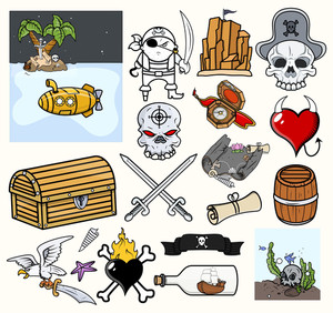 Pirate Vector Illustrations & Icons