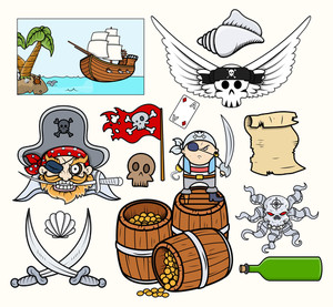 Pirate Vectors Set