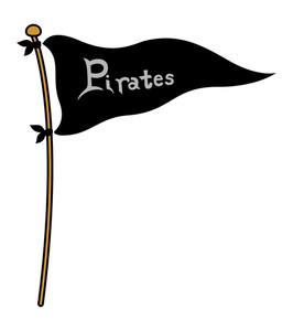 Pirates Flag - Cartoon Vector Illustration