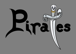 Pirates Text - Vector Illustration