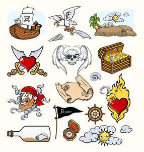 Pirates Vector Illustrations & Cartoon Icons