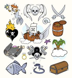 Pirates Vectors Set