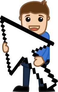 Pixel Arrow - Vector Illustration