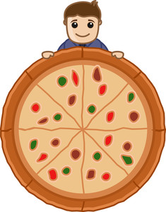 Pizza - Cartoon Business Vector Character