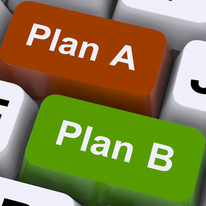Plan A Or B Choice Shows Strategy Or Change