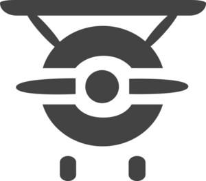 Plane 2 Glyph Icon