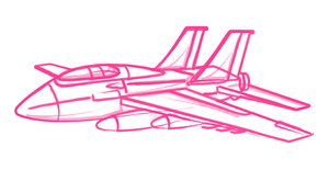 Plane Vector Drawing