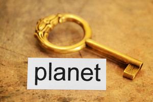 Planet And Golden Key