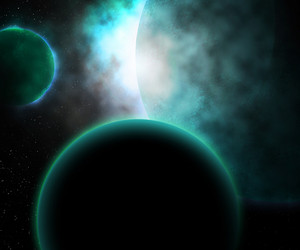 Planets Cosmos Background