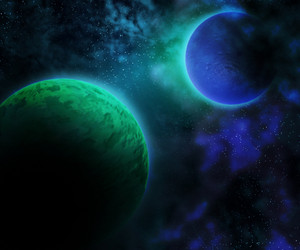 Planets Outer Space Backdrop