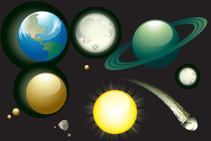 Planets. Vector.