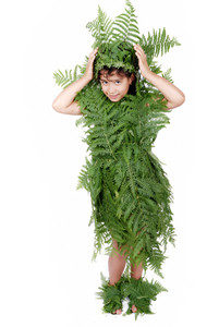 Plant girl isolated