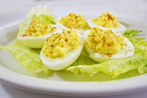 Plate Filled With Boiled Eggs