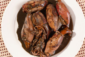 Plate Of Squid Stew In Soy Sauce