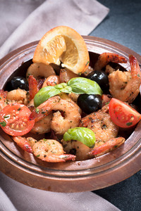 Plate With Shrimp