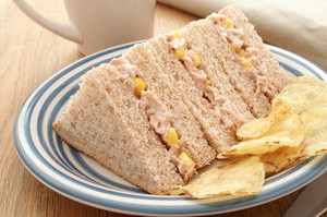 Plated Tuna And Sweetcorn Sandwich