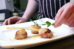 Plating Scallop Dish