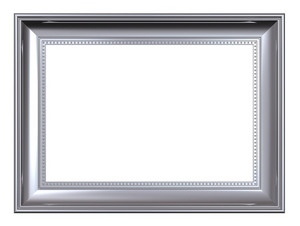 Platinum Frame Isolated On White Background.