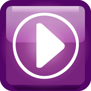 Play Button Purple Tiny App Icon