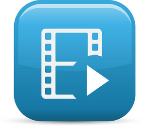 Play Movie Elements Glossy Icon