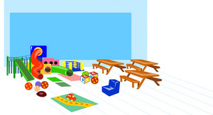 Playground Slides Picnic Table Benches