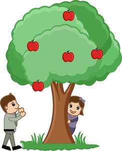 Playing Around Tree - Vector