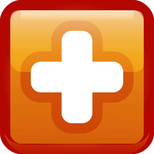 Plus Sign Orange Tiny App Icon
