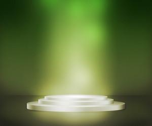 講台聚焦綠色背景