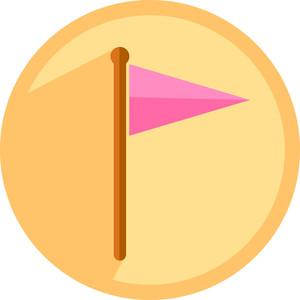 Pointer Flag Icon