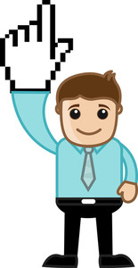 Pointing Above - Pixel Hand - Vector Character Illustration