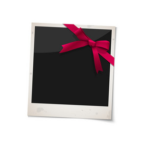 Polaroid Photo Frame With Bow Red Ribbon