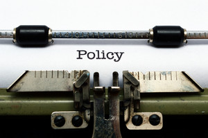 Policy On Typewriter