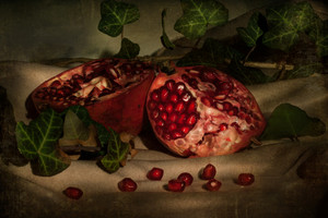 Pomegranate On Table