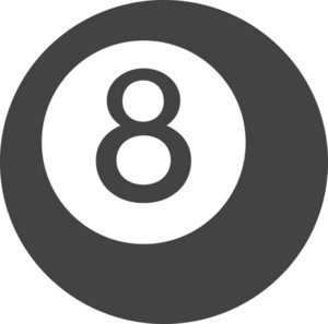 Pool Ball Glyph Icon