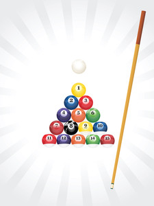 Pool Balls Triangle Background