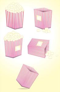 Popcorn Vectors Set