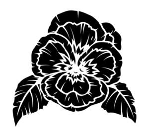 Poppy Flower Silhouette