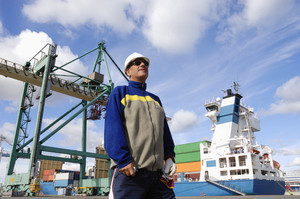 port captain in large container port