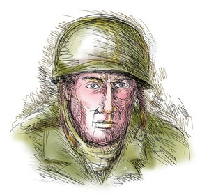 Portrait Gritty World War Two Soldier