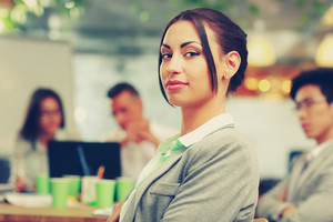 Portrait of a beautiful businesswoman in office