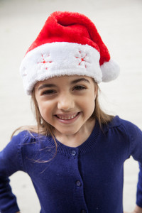 Portrait of a beautifull girl in chrismtas