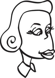 Portrait Of A Cartoon Girl.
