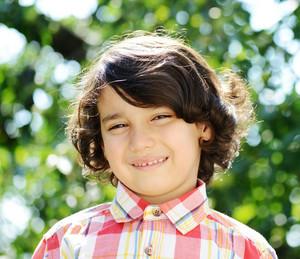 Portrait of a cute kid outdoor
