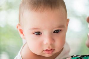 Portrait of a cute little toddler