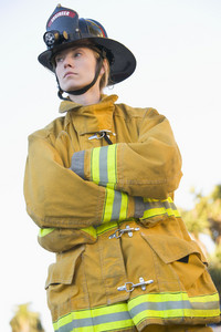Portrait of a female firefighter