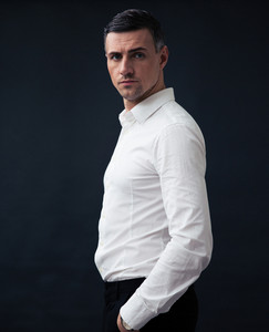 Portrait of a pensive businessman wearing in shirt